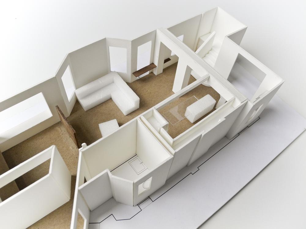 Study Model Of Main Level Glenwood Interior