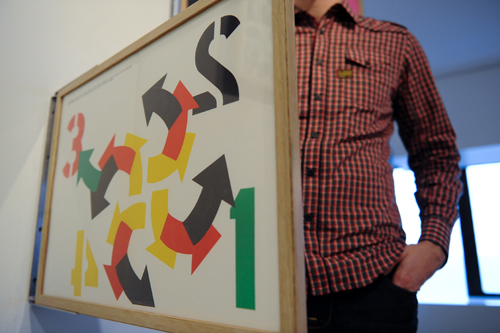 View of Hinged Art Frame: Robert Indiana - Four Winds © Candice C. Cusic