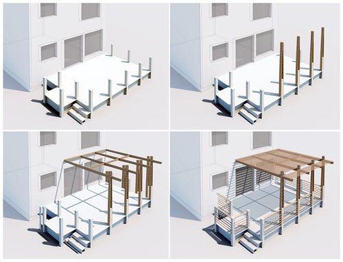 Axonometric View of Assembly Sequence