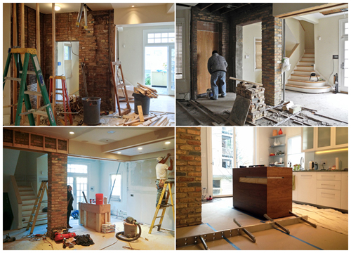 Construction of Main Level Renovation