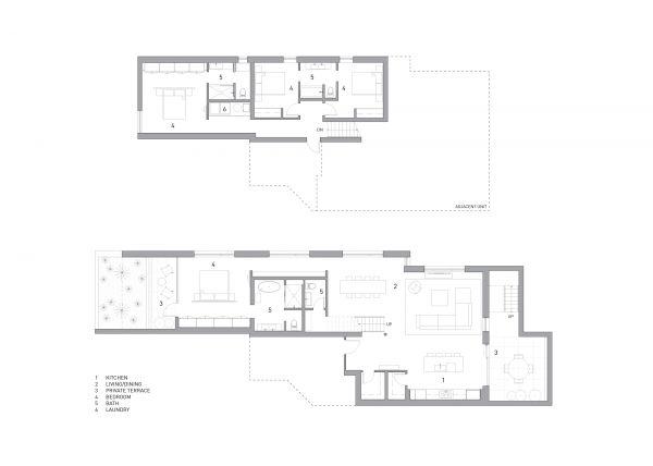 Lower Unit Floor Plan