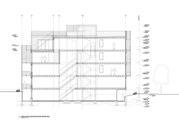 Construction Drawing: North-South Section