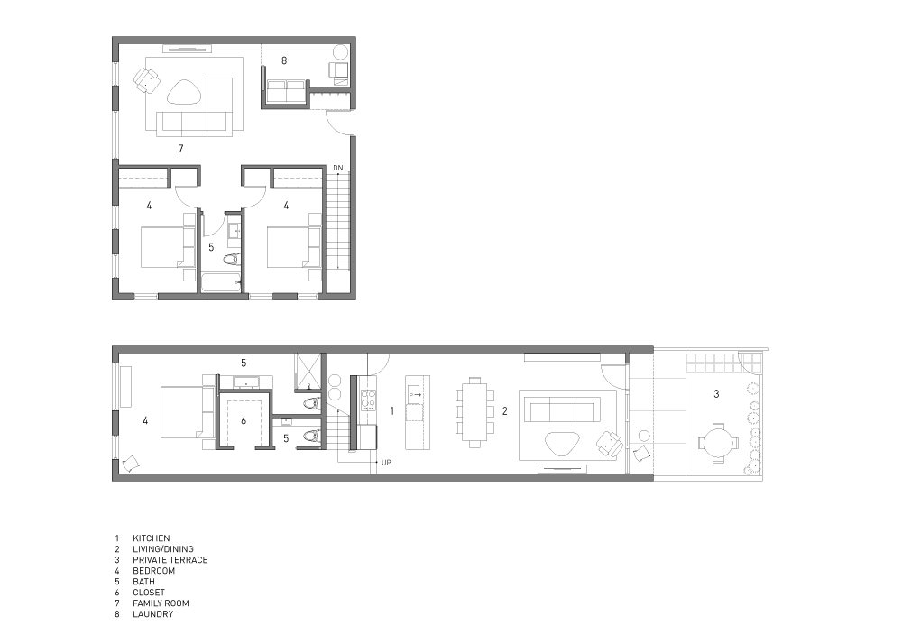 Lower Units Floor Plan