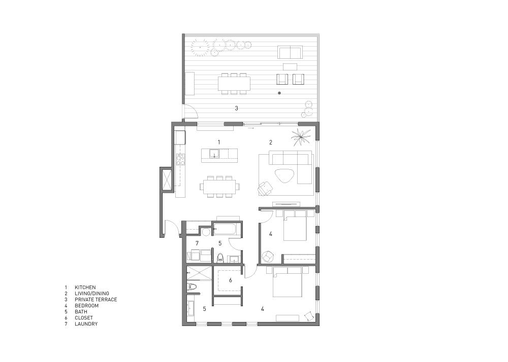 Upper Units Floor Plan